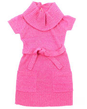 Sizes 7-16 - Big Kids - LUREX COWL NECK SWEATER DRESS (7-16)