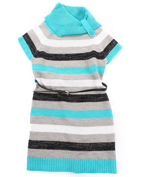 La Galleria - STRIPED SWEATER DRESS (7-16)