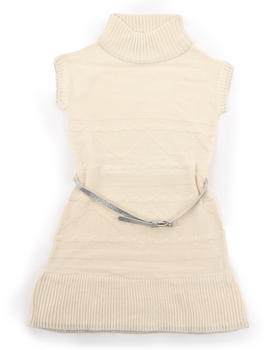 La Galleria - BELTED CABLE SWEATER DRESS (4-6X)