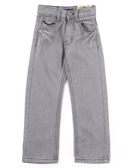 Arcade Styles - Boys Grey Charcoal Bleached Jeans (4-7)
