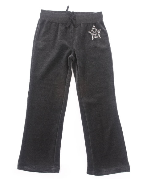 La Galleria Girls Charcoal Velour Pants (4-6X)