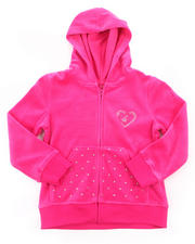 Girls - VELOUR JACKET (4-6X)
