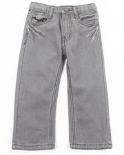 Bottoms - CHARCOAL BLEACHED JEANS (2T-4T)