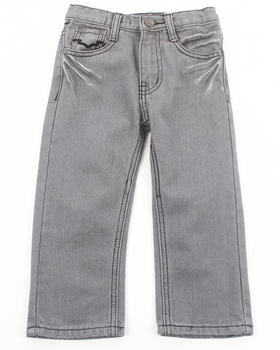 Arcade Styles - CHARCOAL BLEACHED JEANS (2T-4T)