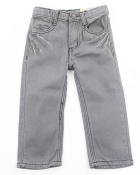 Arcade Styles - BLUE WASH BLEACHED JEANS (2T-4T)