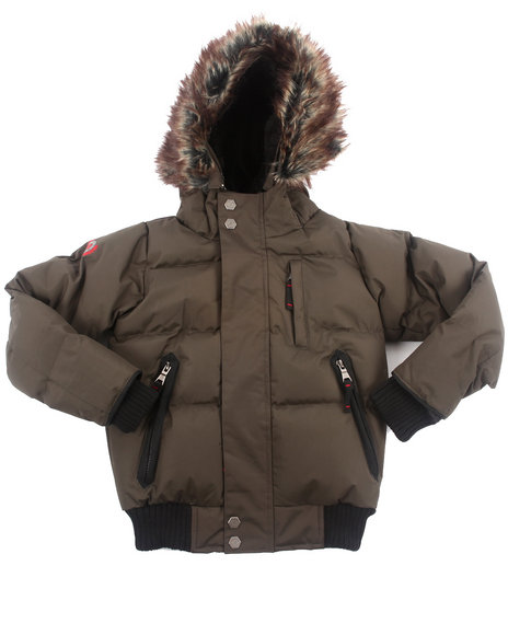 Arcade Styles Boys Class J.W. Puffer Jacket 47 Olive 6