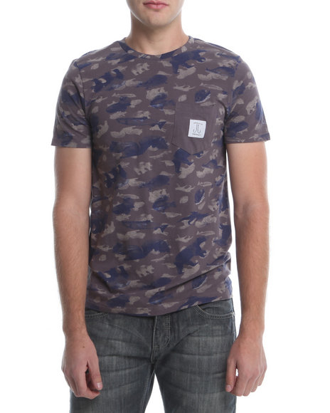 Wesc - Men Grey Animalis All Over Print Tee