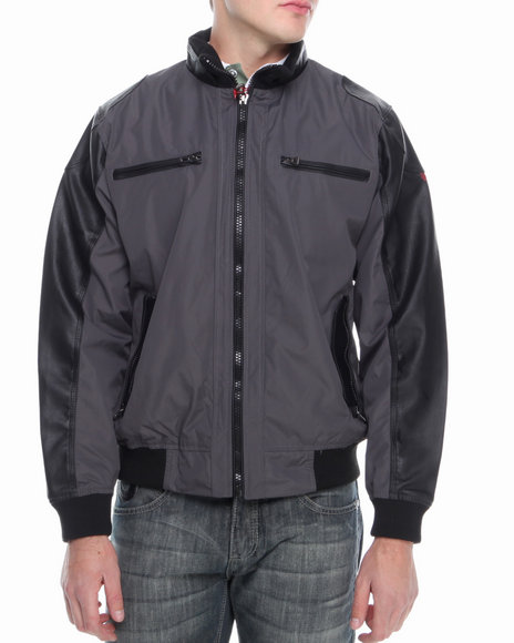 Buyers Picks - Men Charcoal A Lister Moto X Jacket - $20.99