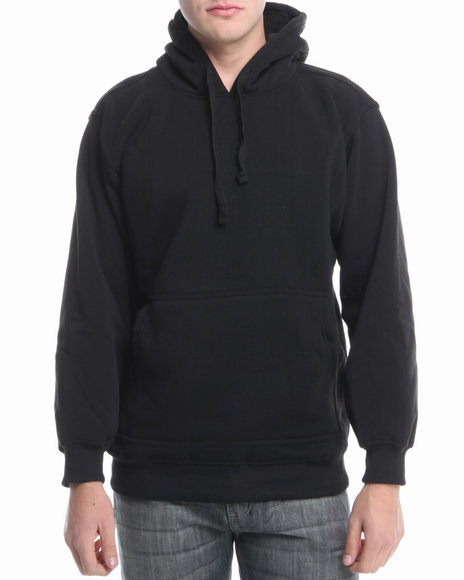 Basic Essentials - Men Black Pullover Hoodie