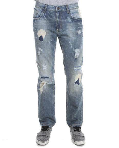 Buyers Picks - Men Light Wash Xray Bleach Denim Jeans