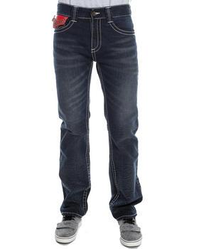 Pelle Pelle by Marc Buchanan - Marc Buchanan Leather flap back pocket denim jeans