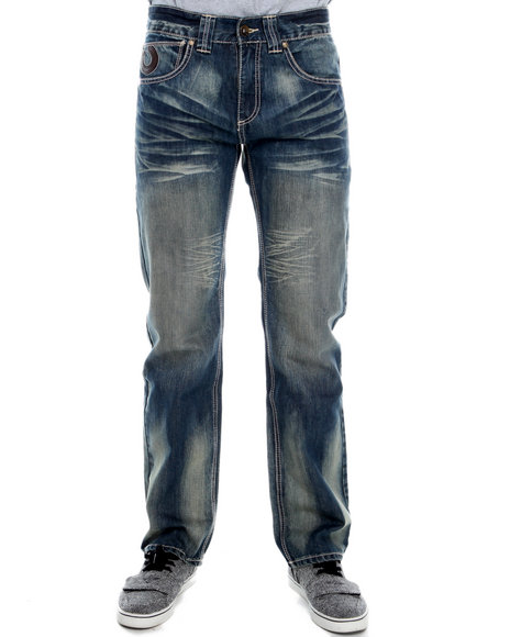 Pelle Pelle - Men Indigo Horseshoe Denim Jeans