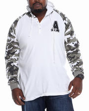 Hoodies - Knit Camo Raglan Hooded Top