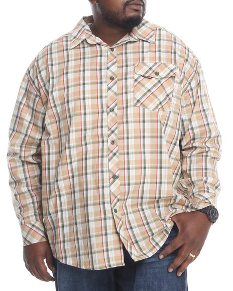 Rocawear Khaki L/S Button-Down (Big & Tall)