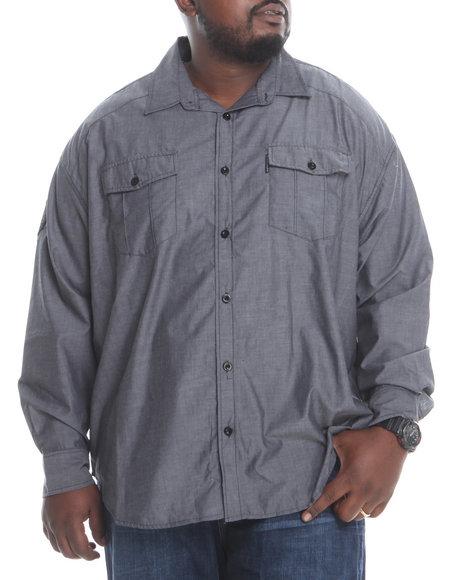 Ecko Black Denial S/S Button-Down (Big & Tall)