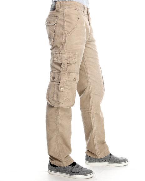 Pelle Pelle Khaki Wheat Corduroy Cargo Pants