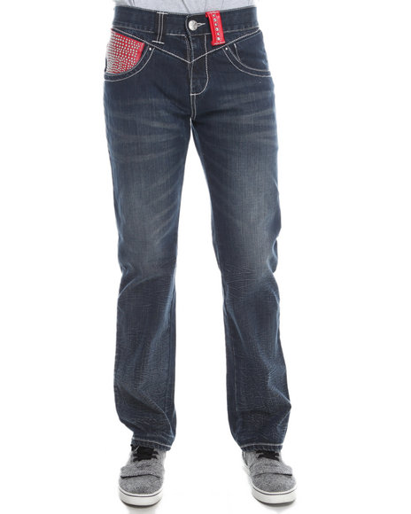 Pelle Pelle By Marc Buchanan - Men Medium Wash The Limited Edition Denim Jeans (Personally Signed By Mark Buchanan)