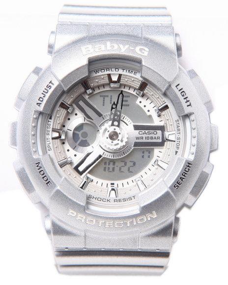 G-Shock By Casio Women Baby-G Ga-110 Watch Grey 1SZ