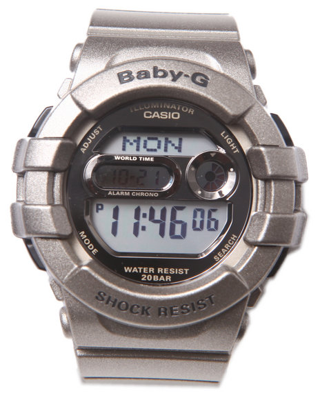 G-Shock By Casio Women 3D Protection Watch Silver 1SZ