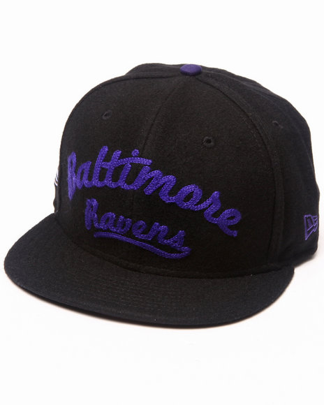 New Era Men Balitmore Ravens Arch V-Script Strapback Purple Medium/Large