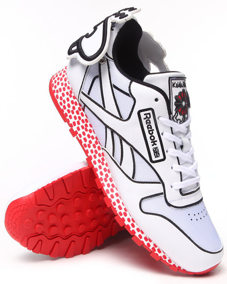 Reebok - Men White Keith Haring Cl Leather Lux Sneakers