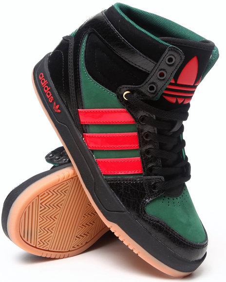 Adidas Boys Black,Green Court Attitude J Sneakers