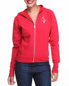 Baby Phat - Cropped Zip Front Hoodie