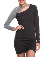 Baby Phat - Venessia Rouched Metallic Sleeve Dress