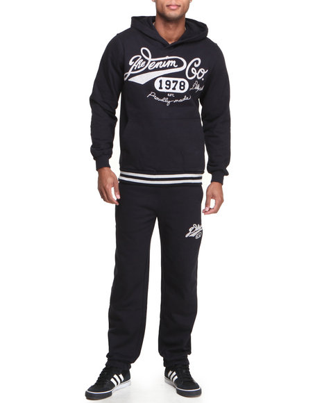 Pelle Pelle - Men Navy Denim Co Warmup Set - $81.99