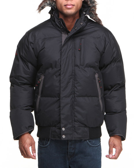 Buyers Picks - Men Black Classic J.W. Puffer Bubble Bomber Jacket