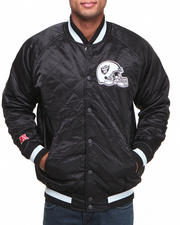 NBA, MLB, NFL Gear - Oakland Raiders Quilted Raglan Jacket