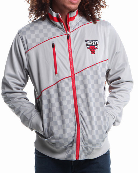 Nba, Mlb, Nfl Gear - Men Grey Chicago Bulls Drive Track Jacket