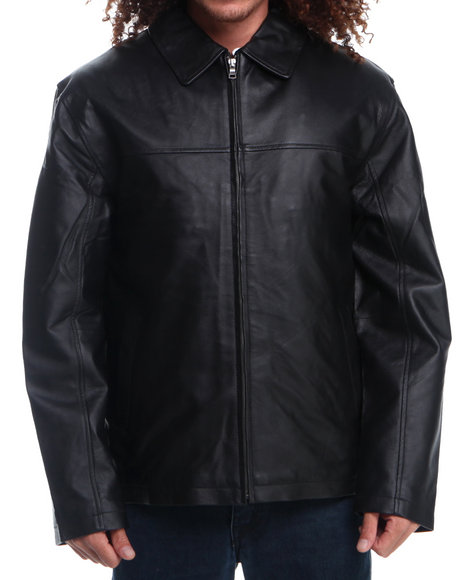 Drj Leather Shoppe - Men Black James Dean Leather Jacket