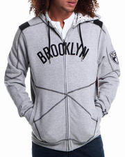 NBA, MLB, NFL Gear - Brooklyn Nets tip Fleece Hoodie