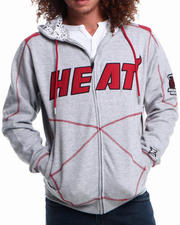 Men - Miami Heat tip Fleece Hoodie