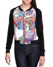 Outerwear - Animal Printed Active Jacket