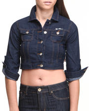 Women - Roll Up Sleeve Denim Jacket