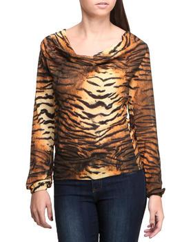 Baby Phat - Chiffon Draped Tiger Print Top