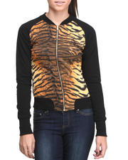 Women - Tiger Print Insert Jacket