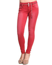 Women - Rusty Skinny Jeans w/belt