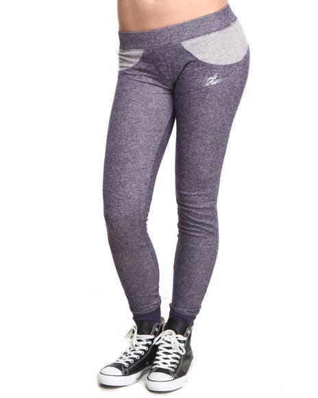 Apple Bottoms - Women Navy Colorblock Active Pant