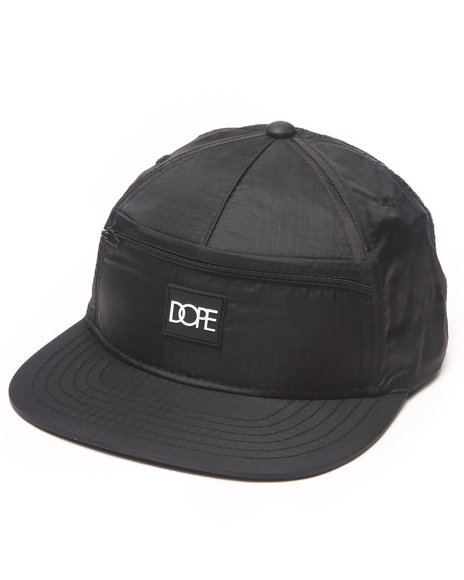 Dope Stash Pocket Adjustable Hat Black