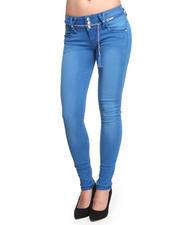 Skinny - Rusty Skinny Jeans w/belt
