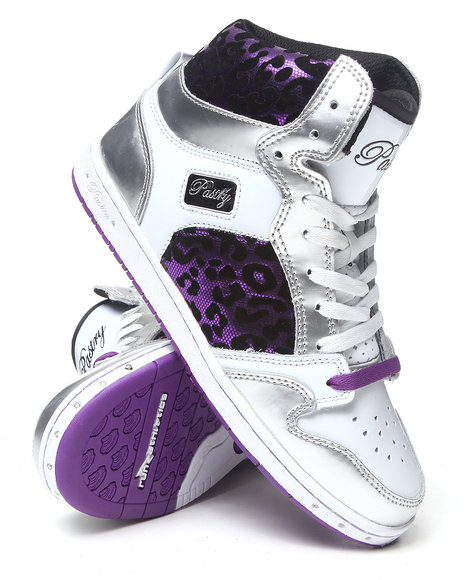 Pastry - Women Purple Glam Pie Foil Cheetah Sneaker