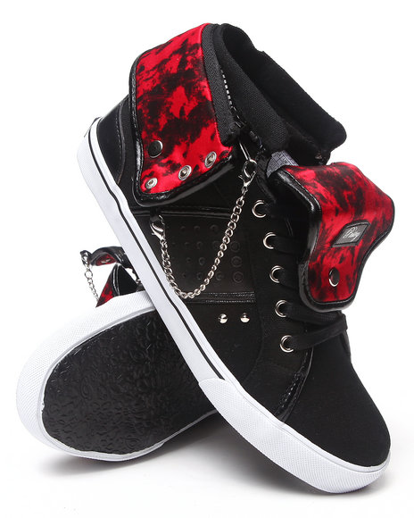 Ur-ID 214978 Pastry - Women Black,Red Pinwheel  Cheetah Print Sneaker