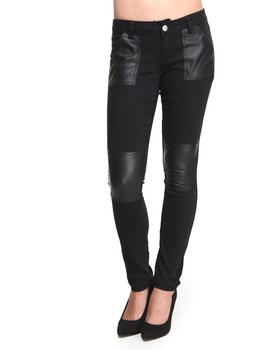 Baby Phat - Vegan Leather Patches Ottoman Pant