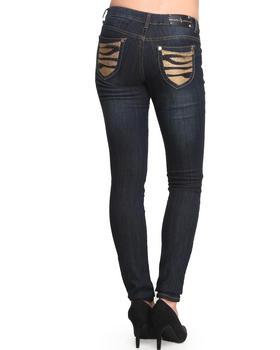 Baby Phat - Studded Tiger Back Pocket Skinny Jean
