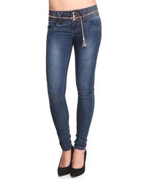 Basic Essentials - Rusty Skinny Jeans w/belt