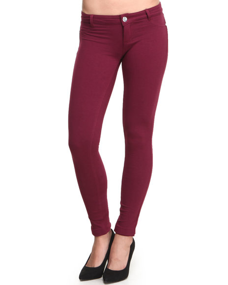 Basic Essentials Women Nora Ponte Pant Maroon Small