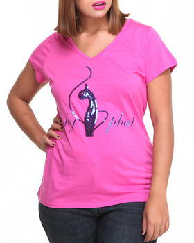 Baby Phat - V-Neck Sequin Core Tee (Plus)